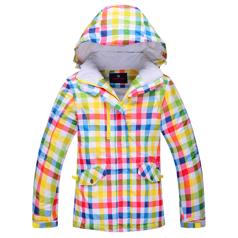 Free Shipping Female Child Ski Jacket Winter Waterproof Windproof Kids Ski Jacket Children Outdoor Warm Hooded Snowboard Coat(China)