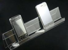 5-PACK Clear Acrylic mobile phone cell tray holder display stand bracket single elongated mobile phone rack