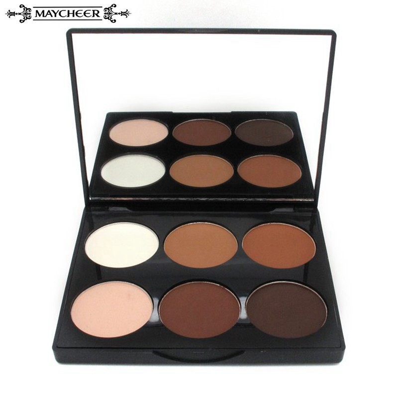 MAYCHEEE Makeup Brand Face Pressed Powder Concealer Whitening Make Up Grooming Highlight Contour Powder Palette Cosmetics<br><br>Aliexpress