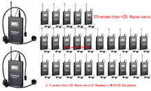 2017 Hot Takstar WTG-500/WTG 500 UHF PLL Wireless Acoustic Transmission System 2Transmitter+25 Receivers+2 MIC+25 Earphone(China)