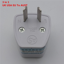 ZK25 SK-002 Hot-Sale Best Price 3 in 1 Universal EU US UK to AU AC Power Socket Plug Travel Charger Adapter Converter(China)