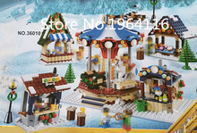 New 36010 Ideas series The Winter Village Market Model Building Blocks Compatible 21310 Classic architecture Toys for children(China)