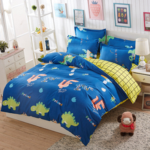 Home Textiles Cartoon 3/4pcs Bedding Sets Duvet Cover Bed Sheet Pillowcase Bed Linen Boy Girl Child Bedclothes For Children(China)