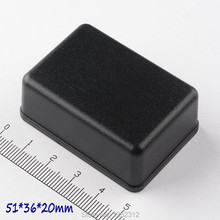 Free shipping 5 pcs/lot 51*36*20mm ABS plastic box for electronic plastic project box abs small PLC waterproof junction box(China)