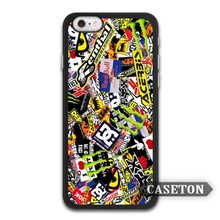 Racing Motorbike Sticker Boom Case For iPhone 7 6 6s Plus 5 5s SE 5c 4 4s and For iPod 5(China)