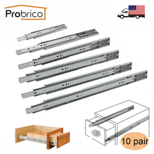 "Probrico Push To Open Slide 12""/14""/16""/18""/20""/22"" Drawer Rail Full Extension Kitchen Furniture Drawer Slide 10 Pair(China)"