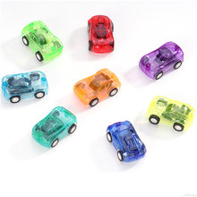 Supermarket hot sale mini pull back cars small toy candy colored transparent pull back warrior car(China)