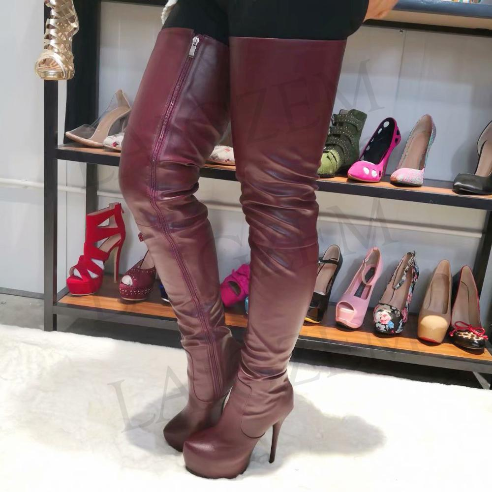 High Heeled Over The Knee Boots