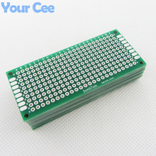 10pcs 3X7cm 3*7cm Double Side Prototype pcb Breadboard Universal for Arduino 1.6mm2.54mm Practice DIY Electronic Kit Tinned(China)