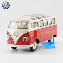 Free Shipping/KiNSMART Toy/Diecast Model/1:24 Scale/1962 Volkswagen Classical Bus Car/Educational Collection/Gift for Kid(China)