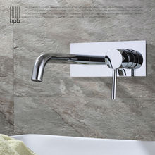 HPB Contemporary Concealed Basin Mixer Hot and Cold Water Bathroom Faucet Wall Mounted Mixer Tap torneira banheiro HP3306