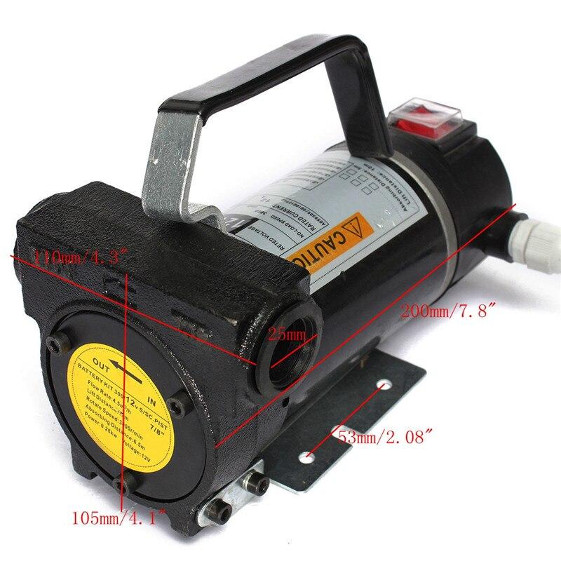 Hot Sale 12V Portable Fuel For Diesel Pump Oil Transfer Pump Self Priming Set 45L/Min 200W Best Price<br><br>Aliexpress