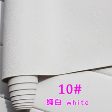 10# white Micro Lychee Pattren high quality 1.2mm thick PU Leather fabric for DIY cars table bags bed material (140*50cm)