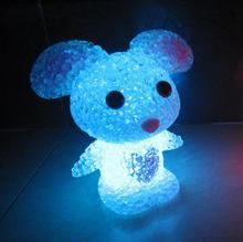 Cute Crystal rabbit night light with 7 colour change for baby bedroom or coffee bar Hot sales night light for children gift