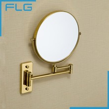 Brand New Wall Mounted Single Side 8inch Magnification Mirror for Makeup Bathroom gold Cosmetic Mirror(China)