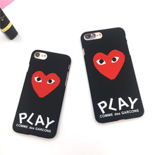 Buy Fashion Red Heart Play Case iPhone X 7 Phone Case Cover iPhone 6 6s Plus 8 plus 5s SE Hard Plastic Matte Coque Fundas G8 for $1.91 in AliExpress store