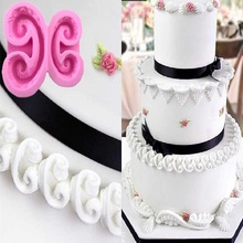 European Relief Icin Pace Dry Silicone Lace Mold Cake Border Decoration Fondant Cake Moulds Chocolate Clay Molds A1191