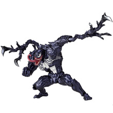 Series NO.003 Revoltech Venom No.002 Spiderman With Bracket PVC Action Figure Collectible Model Toy 15cm