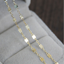 2.2mm 10cm Gold filled Square flat chain for necklace bracelet make J0316