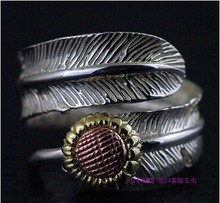 925 sterling silver authentic new GV Daisy feather ring(China)