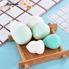4pcs/set Gourd Makeup Puff Sponge For Foundation Powder Bb Cream Puff Beauty Makeup Sponge Wet Or Dry Pink Green Sponge Puff