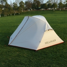 Hillman New 2 Person Camping Rainproof Tent Double Layers Hiking Waterproof 4 Seasons Ultralight Aluminum Rod(China)