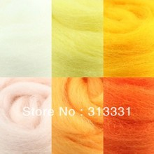 wholesale needle felt handicraft materials and tools dyed Needle Felting Wool 82 colors
