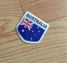 Automobile Motorcycle Exterior Accessories Shield-shap Australia Australian National Flags Car Body Stickers