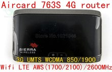 Unlocked Sierra Aircard 763S GPS 100Mbps 4G LTE wifi router lte 4g mifi dongle Wireless Router 3G wcdm UMTS Wifi Mobile Hotspot(China)