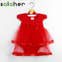 salaher Newborn Summer Dresses Cute Clothes Cotton Bow Baby Girls Rompers Kids Children Clothes For Baby Clothing Girl Drees