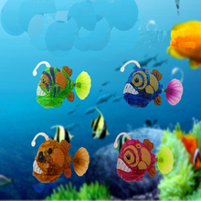 Aquarium New Arrival Funny Swim Electronic fish Activated Battery Powered Toy Pet for Fishing Tank Decorating Fish Lantern fish(China)
