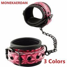 Buy Bdsm PU Leather Wrist Ankle Cuffs Bondage Slave Restraints Belt Adult Games , Fetish Erotic Sex Flirt Toys Women