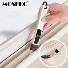 MOSEKO 2 in 1 Window Slot Brush With Dustpan Screen Keyboard Drawer Wardrobe Corner Gap Dust Removal Cleaning Brush(China)