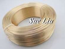 10M Champagne Gold Anadized Aluminum Wire versatile painted aluminium metal wire, Ni & Pb free - 18 gauge (1mm), LX