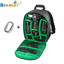 Binmer Green Design 1PC Camera Bag Backpack Waterproof DSLR Case with Carabiner for Canon Oct 13(China)