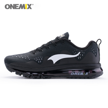Onemix 2017 summer men's running shoes women sports sneakers damping cushion breathable knit mesh vamp outdoor walking shoes(China)