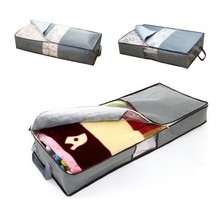 70L Non-Woven Family Save Space Organizador Bed Under Closet Storage Box Clothes Divider Organiser Quilt Bag Holder Organizer(China)
