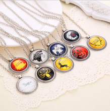 2015 New Design Trinket Necklace Game of Thrones The Song of Ice and Fire Pendant Necklace Vintage Necklace 9 Designs 20pcs/lot(China)