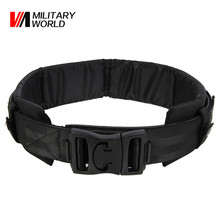 Airsoft Hunting Outdoor Sports Gear Safety Waist Support Military Tactical  Nylon Belt Molle Cummerbunds Waist Protector Pad