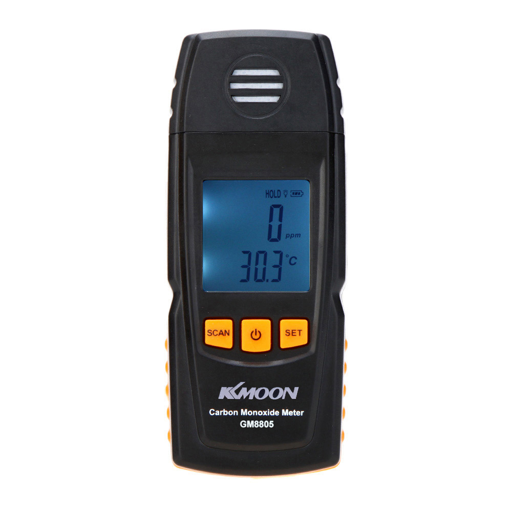 KKmoon Handheld Carbon Monoxide Meter with High Precision CO Gas Tester Monitor Detector Gauge 0-1000ppm GM8805<br>