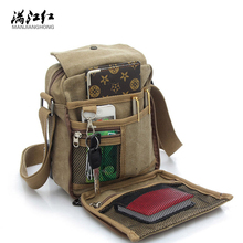 New Fashion Male Business Bag Men Bag Canvas Messenger Shoulder Casual Multifunction Small Crossbody Multi-color High Quality(China)