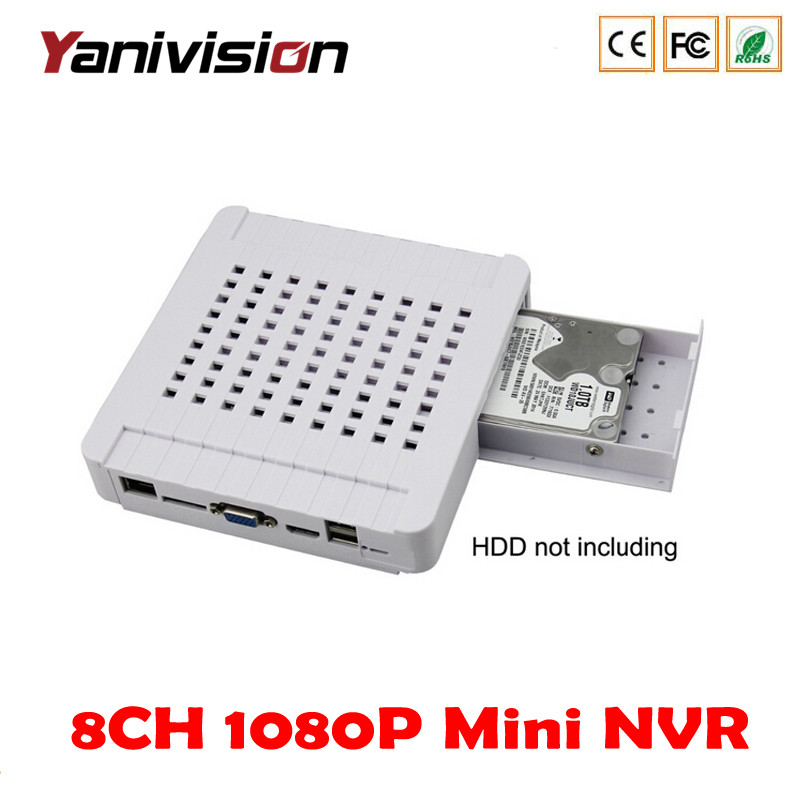 Yanivision DJ-3008M mobile VGA hdmi 4CH 8CH cctv dvr hd network video recorder 1080P 960P 720P p2p onvif Mini NVR Security NVR<br>