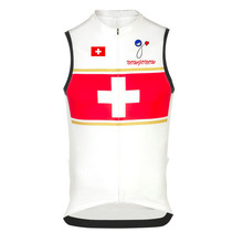 New sleeveless Swiss flag por cycling jersey hot bike wear team white Breathable maillot outdoor ropa Ciclismo nowgonow Summer