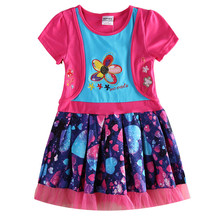nova kids baby girl dresses nova kids cartoon dress summer fashion kids dress new dresses designs child party frocks fashion(China)