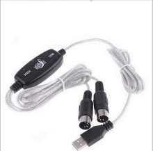 2M 6 Foot USB IN-OUT MIDI Interface Cable Converter PC to Music Keyboard Cable(China)