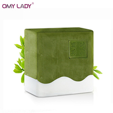 OMY LADY 100g Organic Handmade soap Matcha milk Powder Soap Whitening Moisturizing Cleansing oil-control Acne Treatment handsoap(China)