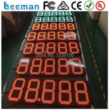 "leeman 10inch 12"" 12 inches red color gas station led gas price sign 8.88 9 LED gas price sign,led gas price digital sign"