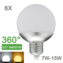 New E27 LED Bulb Light 110V 220V 7W 9W 12W 15W SMD5730 Global LED Lamp 360 Degree Lampada Enegry Saving 6pcs/lot A60 A70 A80 A90