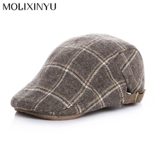 Fashion !! England Style Winter Warm Baby Cap Kid Beret For Girl Cap For Boy Hat Flat Cap High Quality(China)