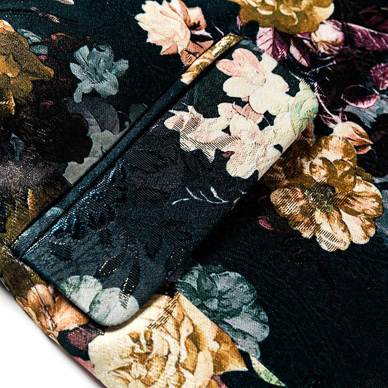 men blazer slim fit suit flowers (3)